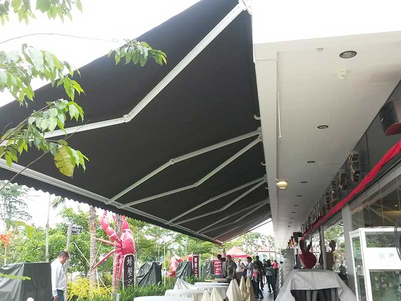 Modern commercial awning