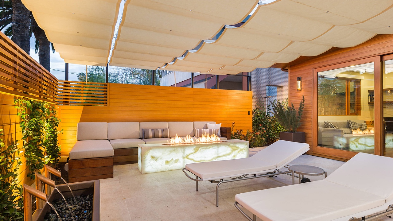 contemporary courtyard canopy