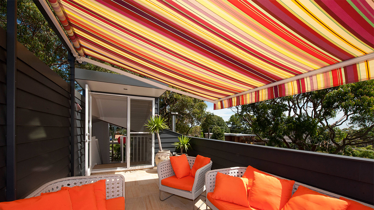 contemporary deck awning